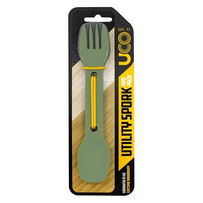 UCO Utility Spork 2pk with tether - Camp Green