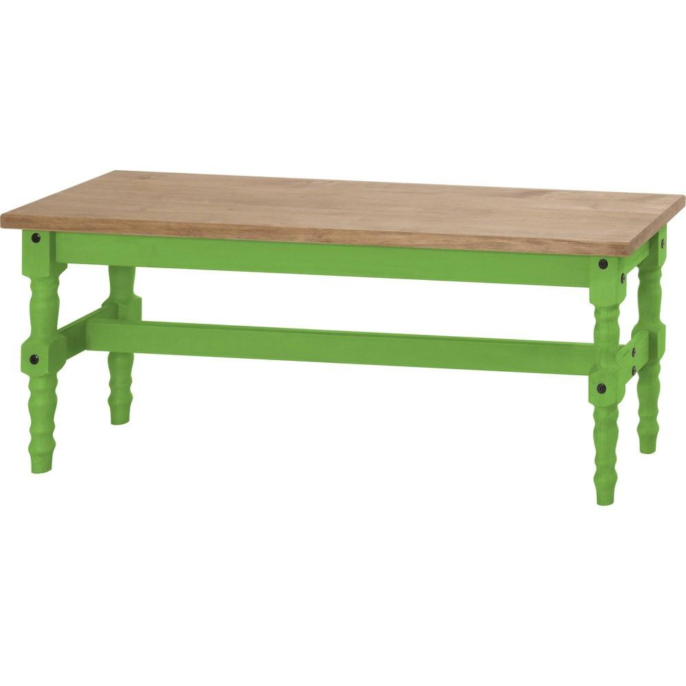 47.25 Jay Solid Wood Dining Bench Wash Green - Manhattan Comfort