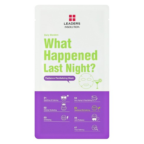 Leaders What Happened Last Night? Face Mask Sheet - 1ct - image 1 of 4