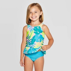 Toddler Girls' 2pc Peplum Tankini Set - Cat & Jack™ Pink