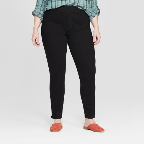 db5b7e650cf Women s Plus Size Pull On Jeggings - Universal Thread™ Black   Target