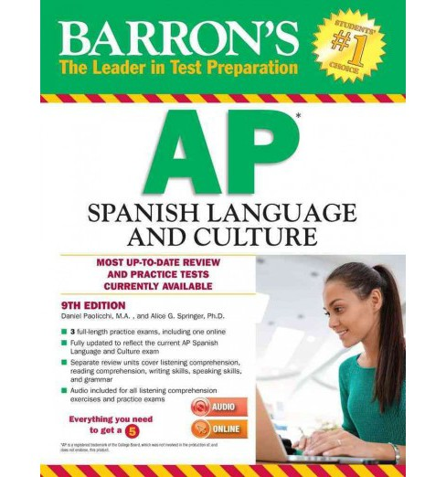 Barron's AP Spanish Language and Culture (Paperback) (Daniel Paolicchi & Ph.D. Alice G. Springer) - image 1 of 1