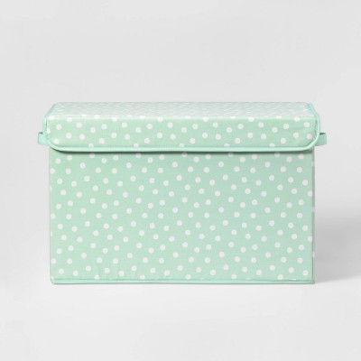 Large Rectangle Dot Storage Bin Mint - Pillowfort™