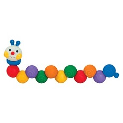 Melissa & Doug K's Kids Build an Inchworm Snap-Together Soft Block Set for Baby - Linkable, Twistable, Stackable, Squeezable