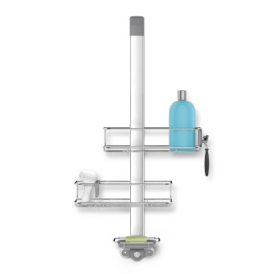 simplehuman Over Door Shower Caddy Stainless Steel/Anodized Aluminum Silver