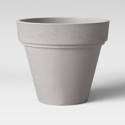Recycled Double Lip Planter Gray - Threshold™