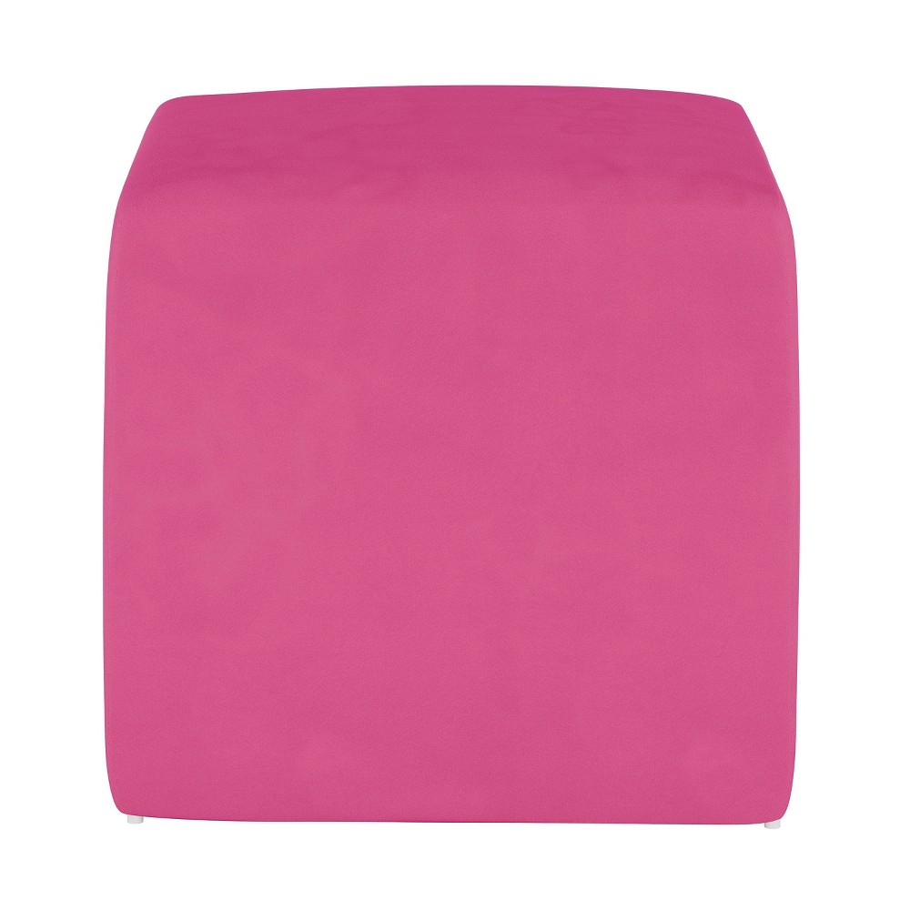 Image of Kids Cube Ottoman Premier Hot Pink - Pillowfort