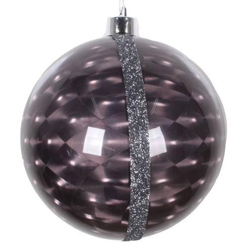 "2ct Vickerman 6"" Glitter Reflector Ornament Set Black - image 1 of 2"