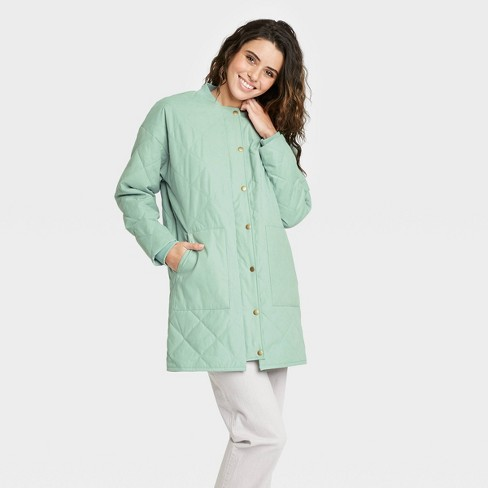 Women's Quilted Jacket - Universal Thread™ Green - image 1 of 3