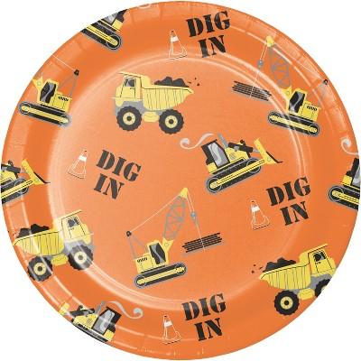 10ct Construction Dinner Plate - Spritz™