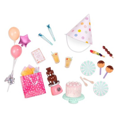 """Our Generation Sweet Celebration Birthday Party Accessory Set for 18"""" Dolls"""