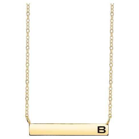 Women's Initial Bar Pendant Necklace - Gold - image 1 of 2