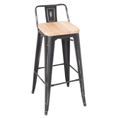 Set of 2 Counter And Bar Stools Ash Black - Acme Furniture - image 1 of 1