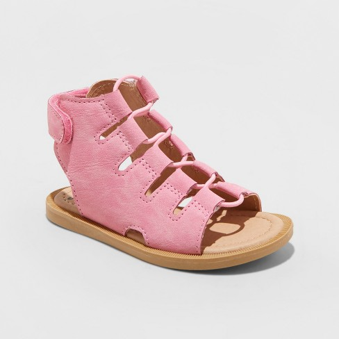 Toddler Girls' Just Buds Ghillie Gladiator Sandals - image 1 of 3
