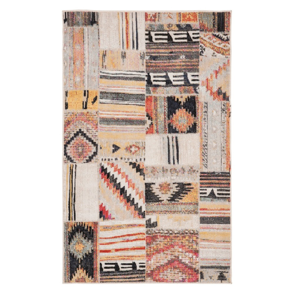 3'X5' Tribal Design Loomed Accent Rug Taupe - Safavieh, Gray