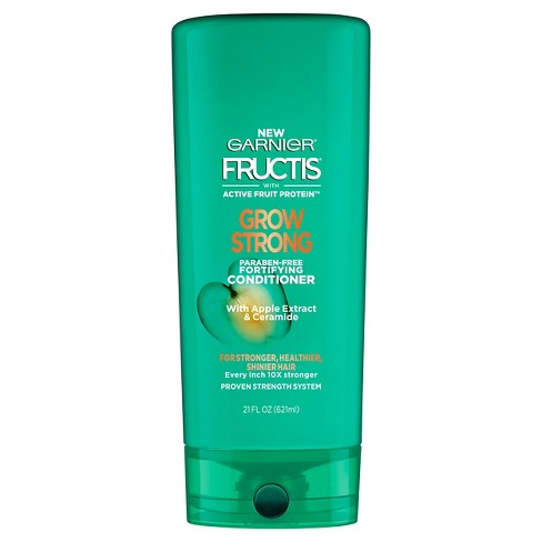 Garnier Fructis Grow Strong with Apple Extract  & Ceramide Conditioner - 21 fl oz - image 1 of 3