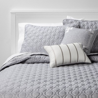King 5pc Quilt Set Gray Richmond - Threshold™
