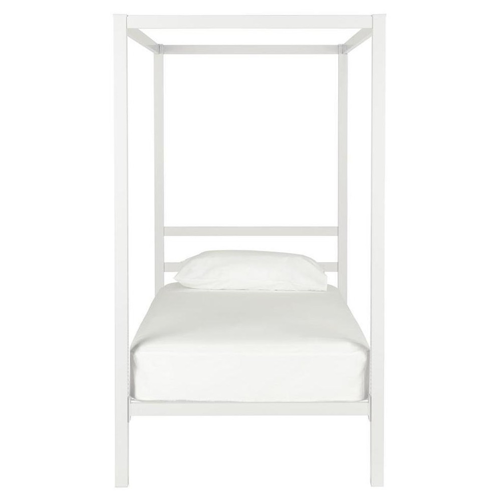 Twin Briella Metal Canopy Bed White - Room & Joy