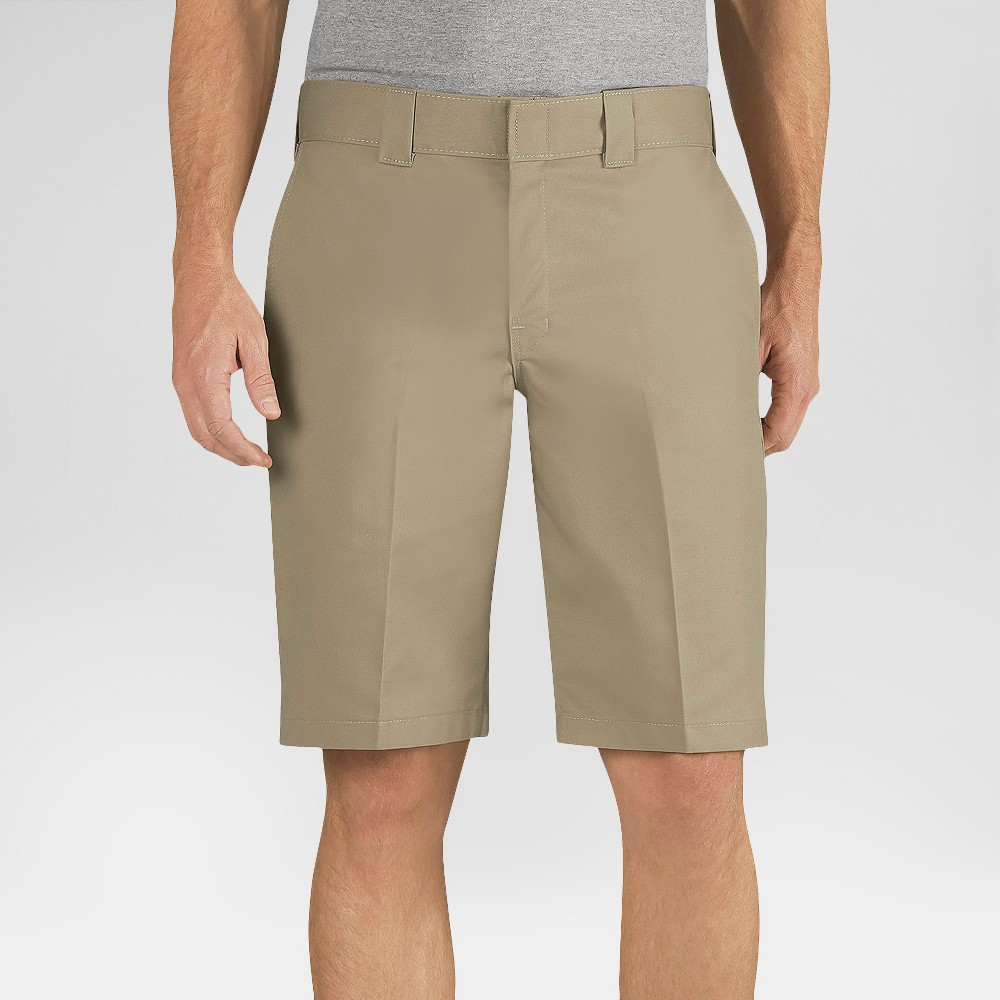 Dickies Men's Relaxed Fit Flex Twill 11 Shorts- Desert Sand 38
