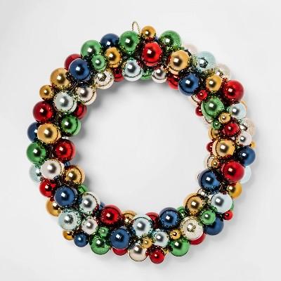 22.7  Shatterproof Round Ornament Wreath - Threshold™