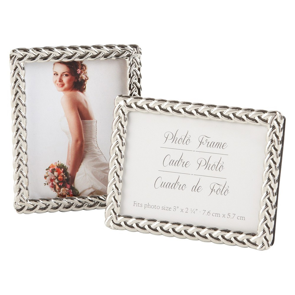 12ct Silver Pearls Mini Photo Frame, Silver