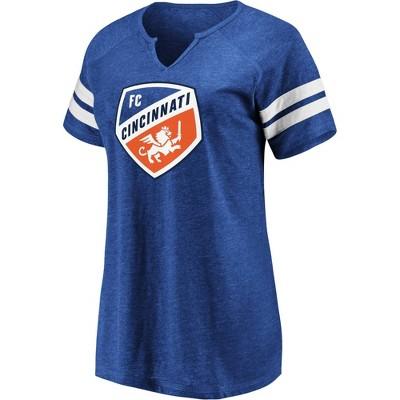 MLS FC Cincinnati Women's Short Sleeve Split Neck T-Shirt