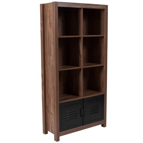 Storage Shelf with Cabinet Brown - Riverstone Furniture - image 1 of 4