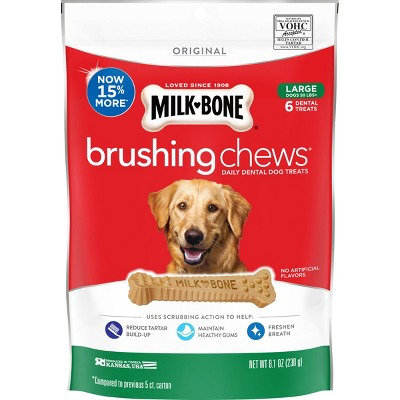 Dog Treats: Milk-Bone Brushing Chews Large