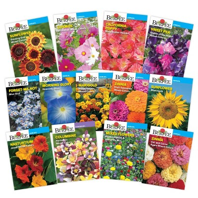 Burpee  Favorite Annual and Perennial Flower Seed Collection - 13pk