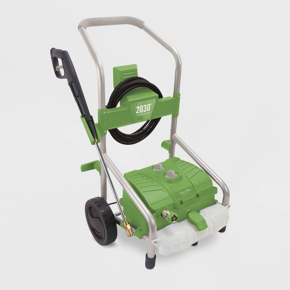 Image of 2030psi 14.5 Amp 37 Electric Roll Cage Trolley Pressure Washer Green - Martha Stewart