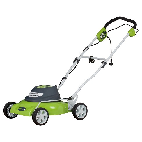 "GreenWorks - Corded 12 Amp 18"" Lawn Mower - Electric Lime - image 1 of 1"