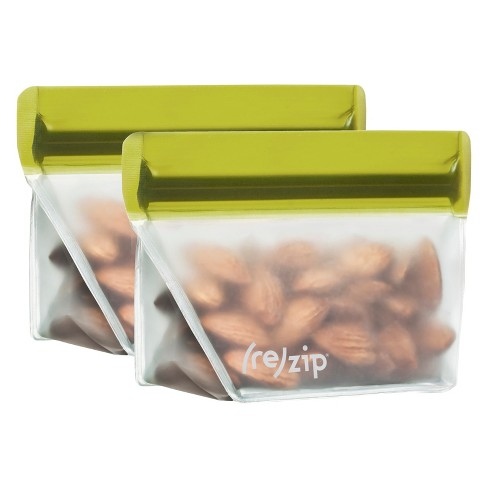 (re)zip Leak-Proof Stand Up Moss Green Storage Bag - 4oz 2pk - image 1 of 4
