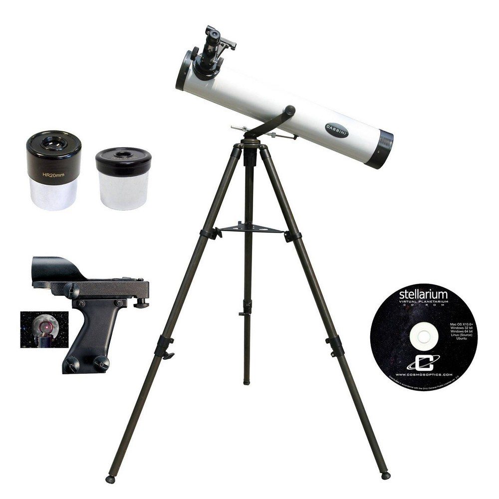 Image of Cassini C-80 800mm X 80mm Reflector Telescope - White/Black