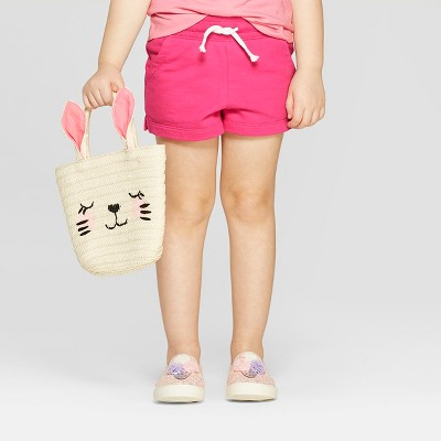Toddler Girls' Straight Pull-On Shorts - Cat & Jack™ Magenta Pink 5T