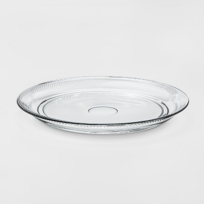 Traditional Glass Round Serving Platter - Threshold™