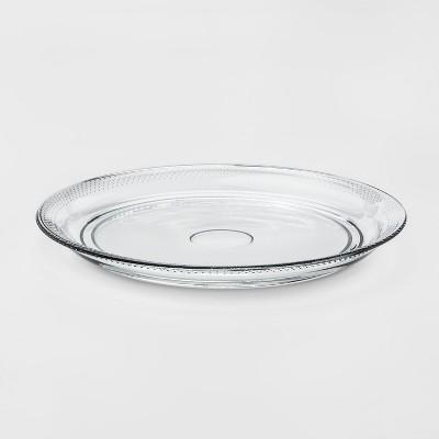 Traditional Glass Round Serving Platter - Threshold™