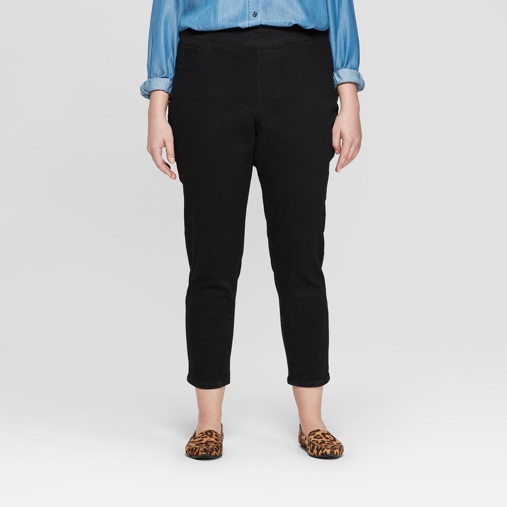 Best Shopping Women Plus Size Pull On Jeggings Ava Viv Black 28W