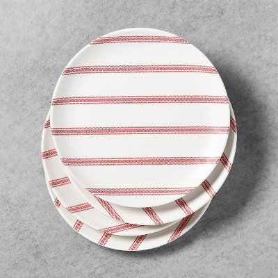 4pk Salad Plate Melamine Americana Red Stripe - Hearth & Hand™ with Magnolia