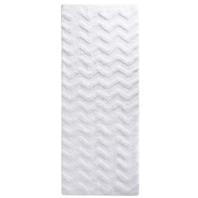 Chevron Bathroom Mat White - Yorkshire Home
