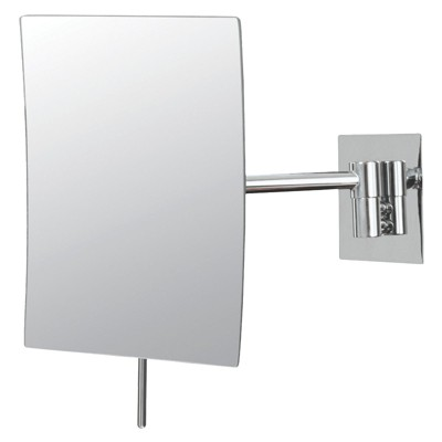 "Bathroom Mirror Image Minimalist Rectangular Wall Bathroom Mirror 5""x8"" Chrome - Aptations"