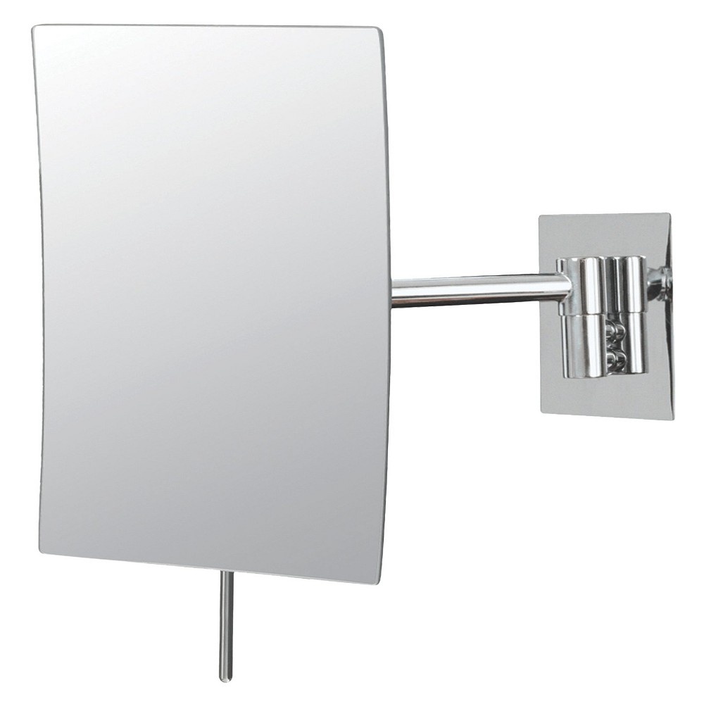 "Image of ""Bathroom Mirror Image Minimalist Rectangular Wall Bathroom Mirror 5""""x8"""" Chrome - Aptations"""