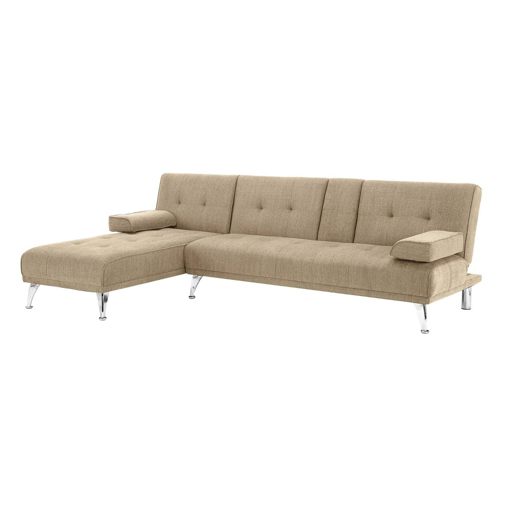 Miley Sofa With Chaise Sand Brown Serta