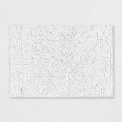 Floral Bath Rug True White - Opalhouse™