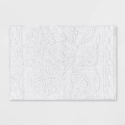 Floral Bath Rug True White - Opalhouse™