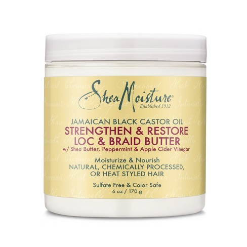 SheaMoisture Jamaican Black Castor Oil Strengthen & Restore Loc & Braid Butter - 6oz - image 1 of 4