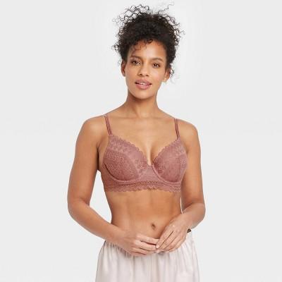 Women's Lace Longline Semi Demi Bra - Auden™