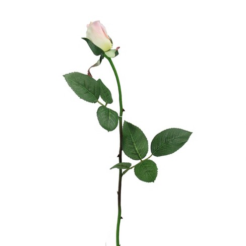 """Northlight 23"""" Artificial Long Single Stem Pink and Yellow Colored Budding Rose Pick - image 1 of 2"""