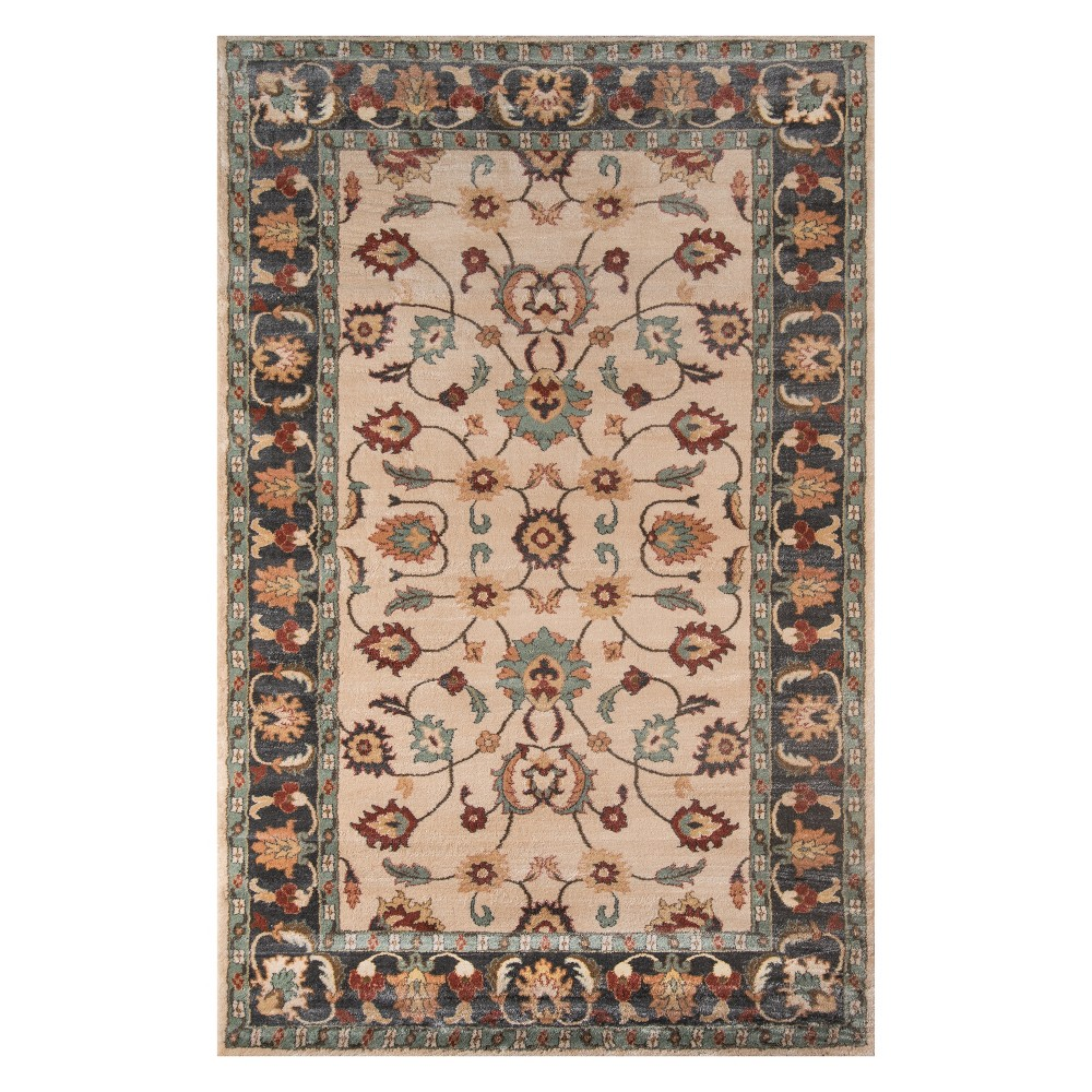 2'X3' Floral Loomed Accent Rug Beige - Momeni