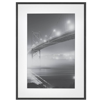"15"" x 21"" Matted to 11"" x 17"" Thin Metal Gallery Frame Black - Project 62™"