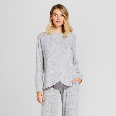 Women's Nursing Marled Tulip Pajama Top - Gilligan & O'Malley™ - Gray M